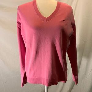 Lilly Pulitzer pink v neck sweater